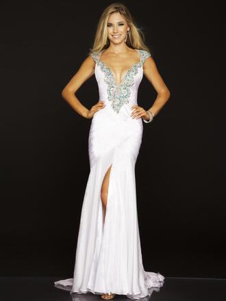 dress empire waist mac duggal cute sexy sequin prom dress