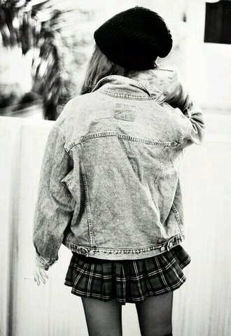 jacket grunge grunge jean jacket skirt denim jacket