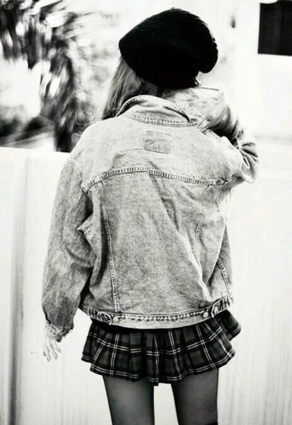 jacket grunge grunge jean jacket skirt denim jacket
