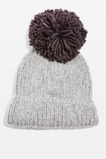 Topshop hat beanie knit charcoal