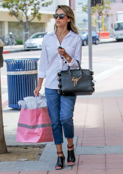 jessica alba shoes bag