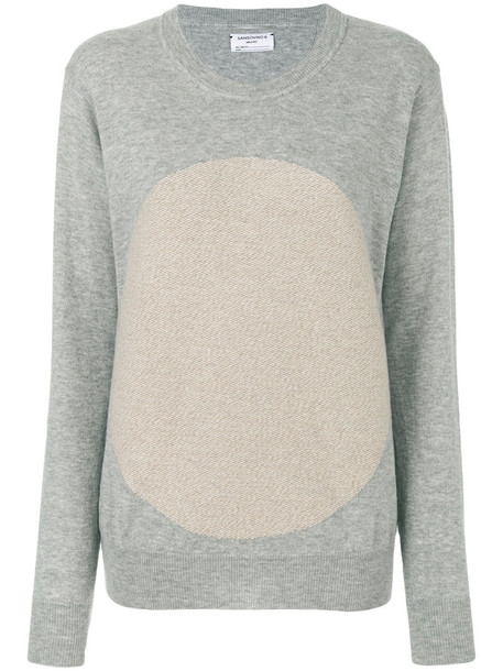 SANSOVINO 6 jumper women geometric wool grey sweater