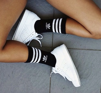 shoes adidas white sneakers superstar socks
