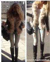 jeans,ripped jeans,light jeans,style,fur,sweater,fur coat,fur sweater