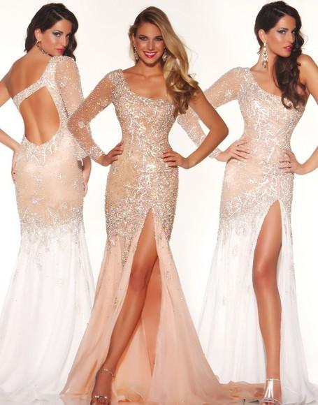one shoulder sparkley sparkly elegant