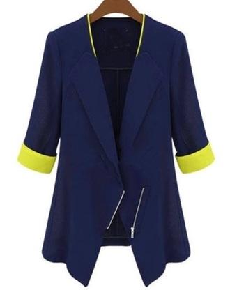 coat yellow blazer cute