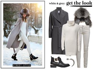 passions for fashion blogger fur hat grey coat winter outfits cut out ankle boots