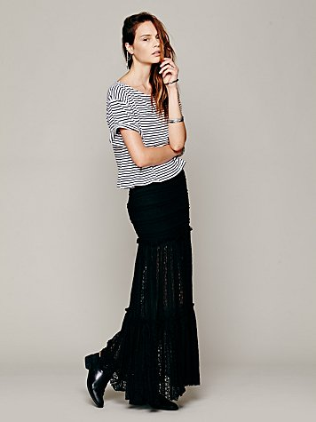 Free people  mermaid knit lace maxi at free people clothing boutique