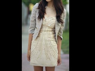 sweetheart neckline dress gold cream sequins short dress