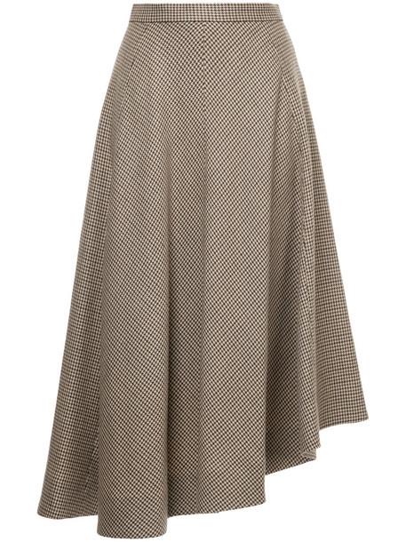 Le Ciel Bleu skirt midi skirt women midi wool brown