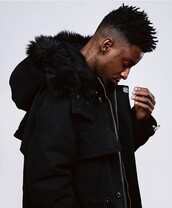 coat,parka,21 savage,mens parka,black,black parka