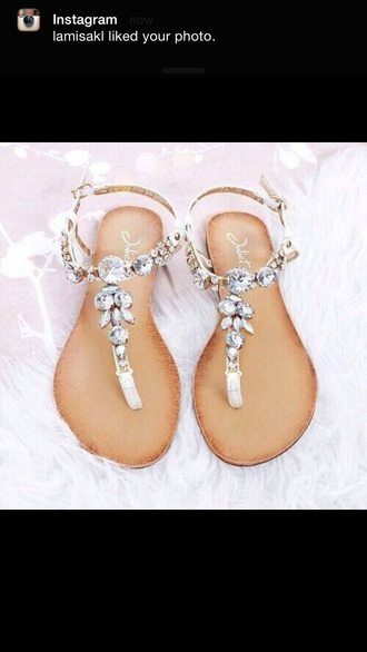 shoes fashion style sandals summer jewels love