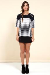 blouse,silk,breton stripes,silk blouse,chipchop