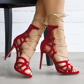 shoes red red heels valentines love date outfit date ideas gojane gold sandal heels red shoes