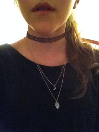 jewels choker necklace chocker boho necklace indie boho hamsa hand necklace hamsa lovely pepa