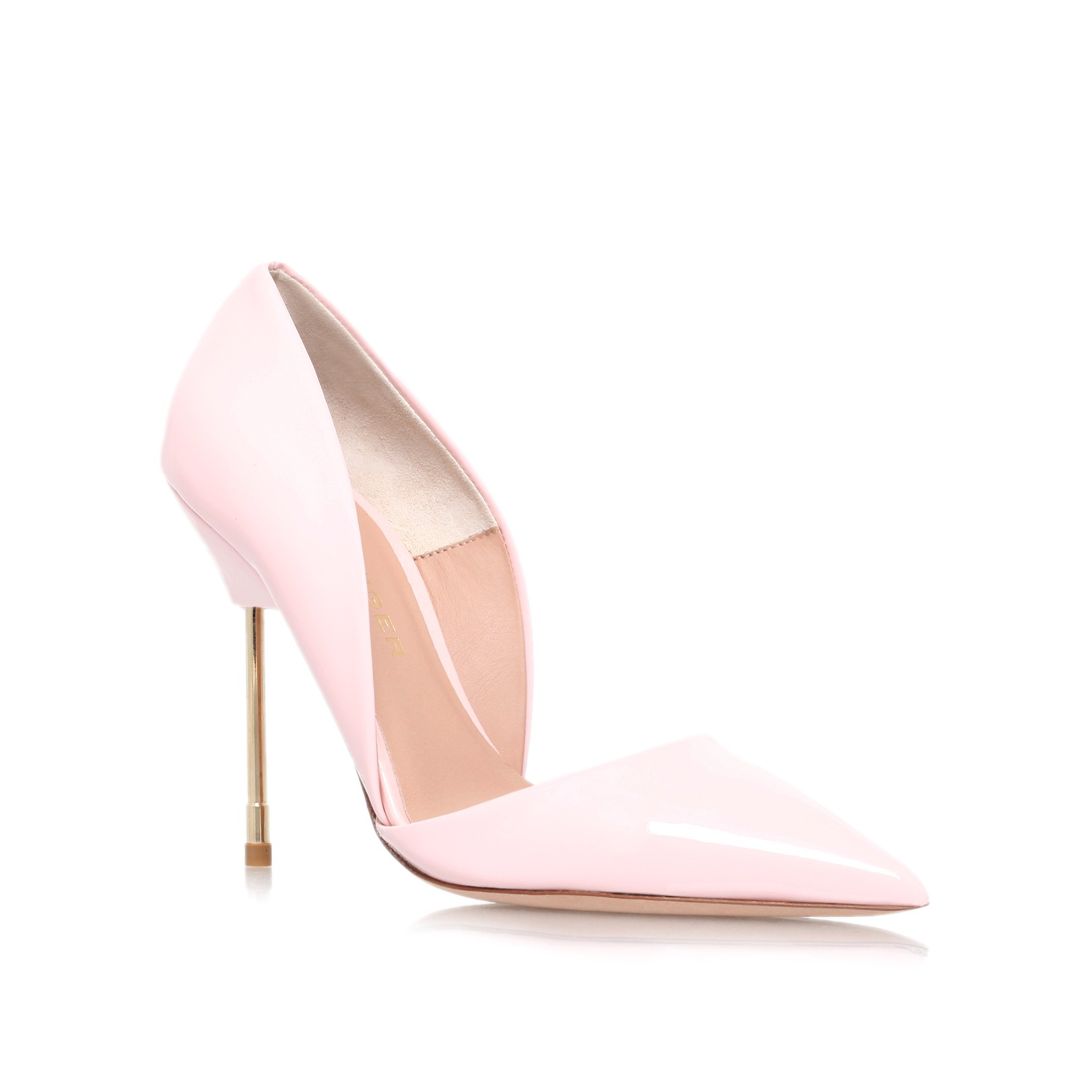 Bond pink high heel court shoes by kurt geiger london