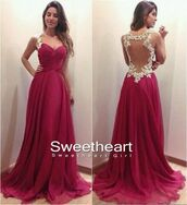 dress,long prom dress,prom dress,red chiffon dress,red prom dress,lace dress,red dress,white dress,backless prom dress