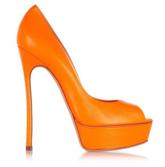 shoes orange casadei shoes heels pumps