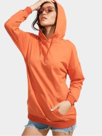 sweater girly sweatshirt jumper orange hoodie oversized sweater