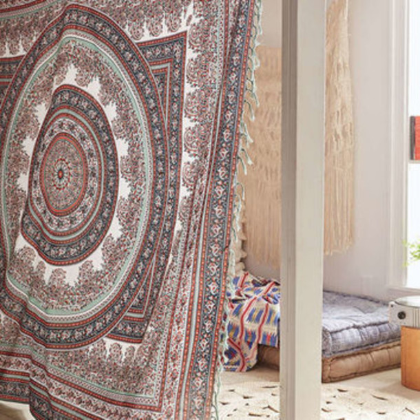 Home accessory indian in boho traditional tapestry