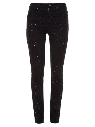 jeans skinny jeans high print black