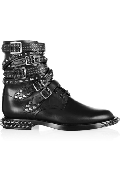 Saint Laurent | Signature Rangers studded leather boots | NET-A-PORTER.COM
