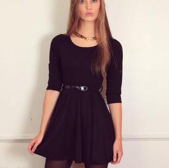 little black dress skater dress skater