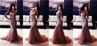 dress silver prom dress evening dress sparkling dress mermaid prom dress wedding dress instagram