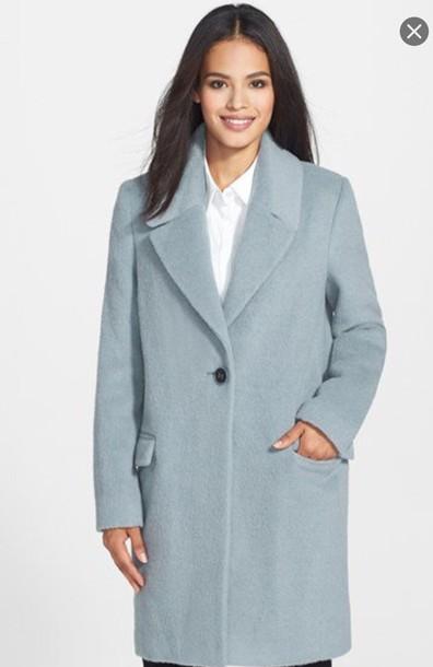coat light blue trench coat