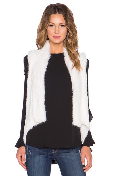ELLIATT vest fur vest fur white