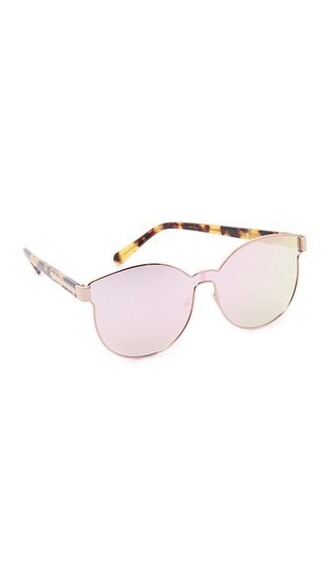 sailor rose gold rose sunglasses gold