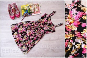 dress printed dress floral dress colorful dress