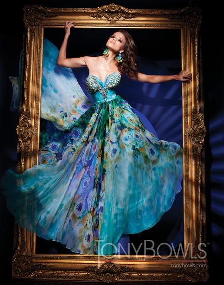 turquoise blue prom dress blue dress flower dress turquoise dress dress clothes