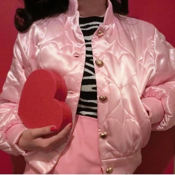 coat pink jacket jacket