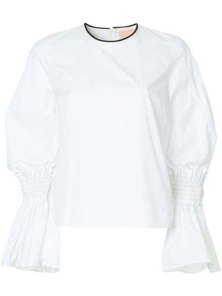 Roksanda top women white cotton