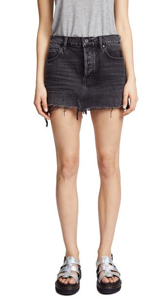 Denim x Alexander Wang 5 Pocket Zip Skirt in grey