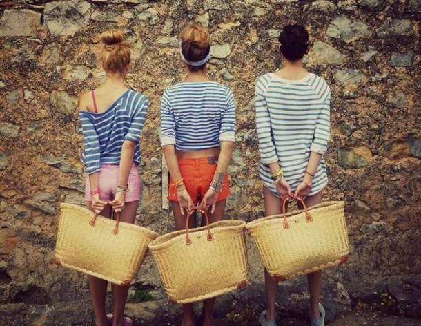 t-shirt marinière girls blouse