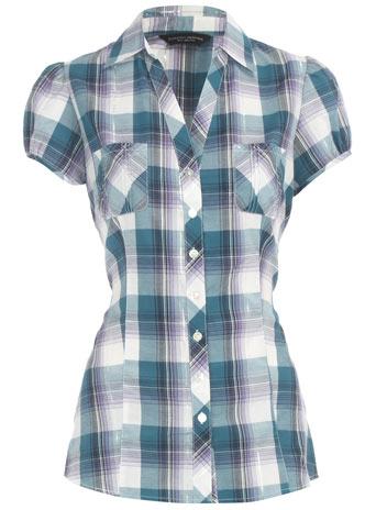 Lilac/green checked shirt
