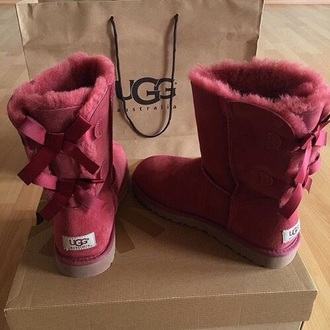 shoes ugg boots bailey bow burgundy bailey bow uggs burgundy shoes flat boots winter boots