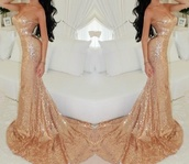 dress,sequins,gold mermaid gown,gold,prom,portia and scarlett,prom gown,champange gold prom dress