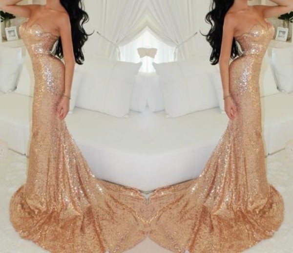 dress sequins gold mermaid gown gold prom portia and scarlett prom gown champange gold prom dress