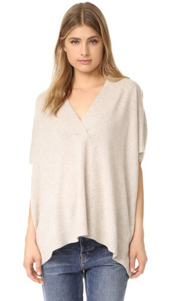 Vince Short Sleeve Oversized Sweater - Lt H Marzipan - Wheretoget