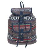 Grace aztec ethnic print backpack in denim blue