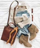 dailystylefinds,blogger,shoes,sweater,jeans,scarf,jacket,dress,fall outfits,ankle boots