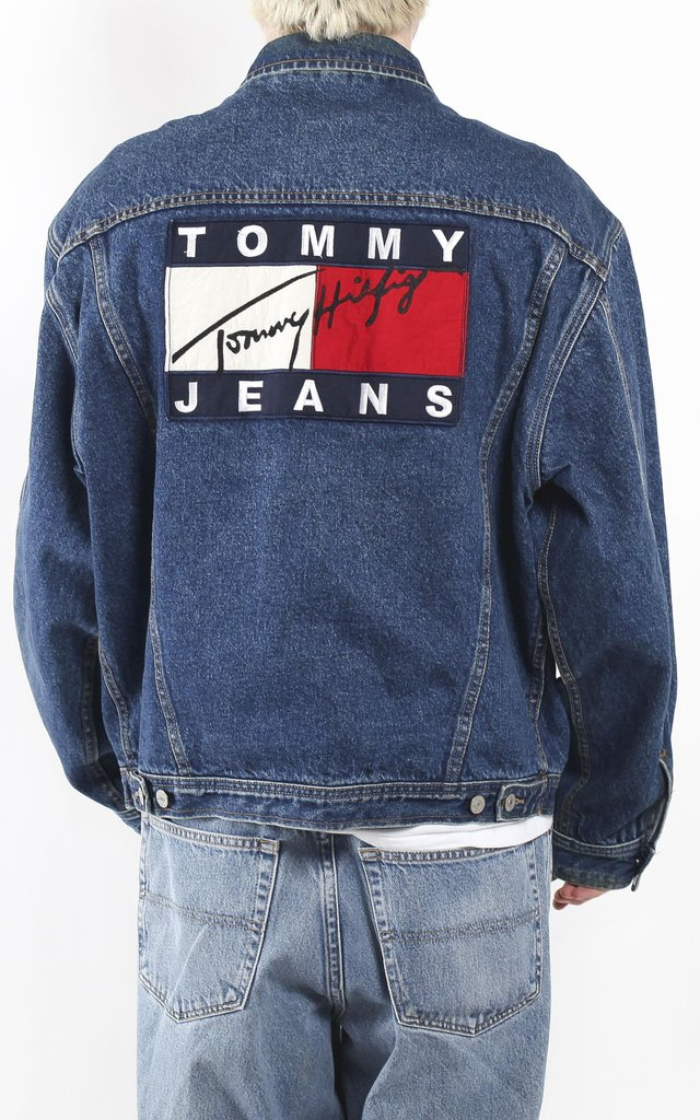 vintage tommy hilfiger denim jacket sz l f as in frank. Black Bedroom Furniture Sets. Home Design Ideas