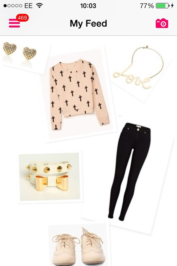 sweater jeans jewels shoes