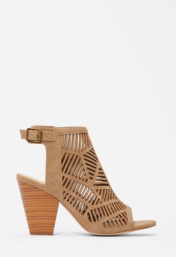 Coral Caged Heeled Sandal