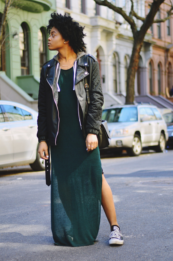slit dress long split maxi slit slits in sides long split shirt urban clothes slit dress celebrity style celebrity style new trending dress beach dress super hot trendy pinterest dress skirt maxi dress maxi skirt maxi streetstyle streetwear jacket leather jacket sneakers converse black pants shorts