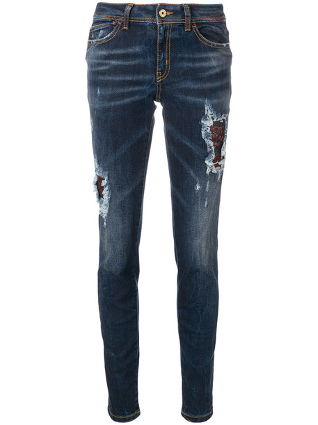 just cavalli jeans women spandex cotton blue