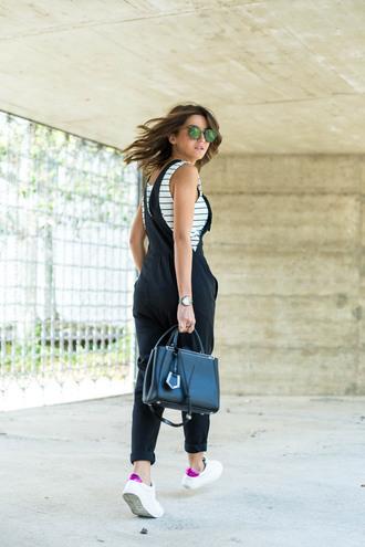 lovely pepa blogger jumpsuit t-shirt shoes bag sunglasses